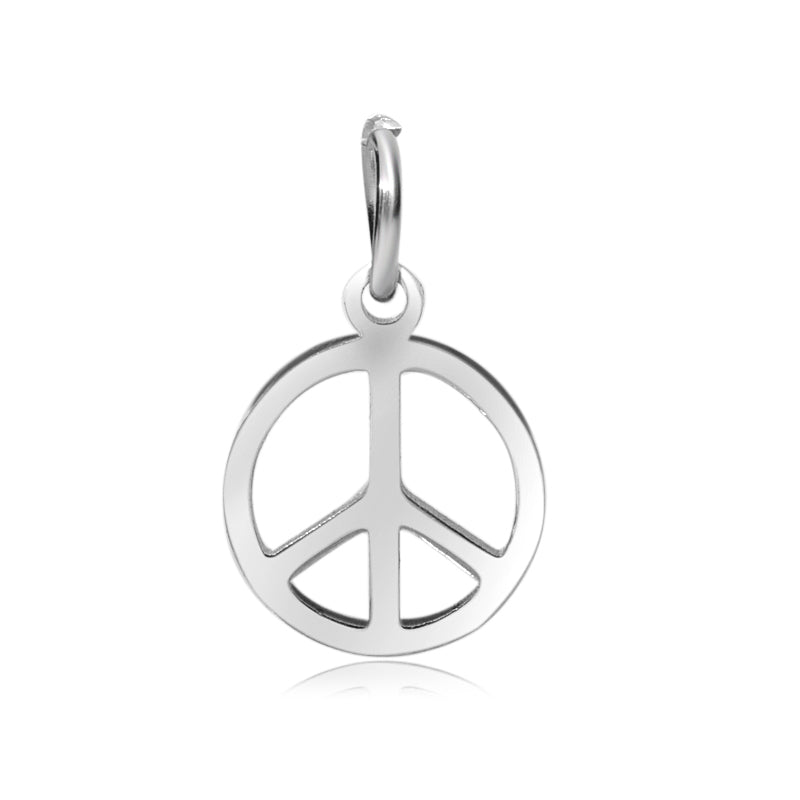 Peace Sign Charm Me Stainless Steel Necklace