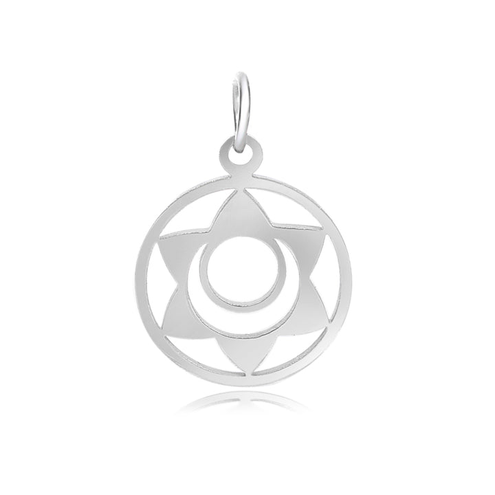 2nd Chakra, Svadhishthana, Charm Me Stainless Steel Necklace