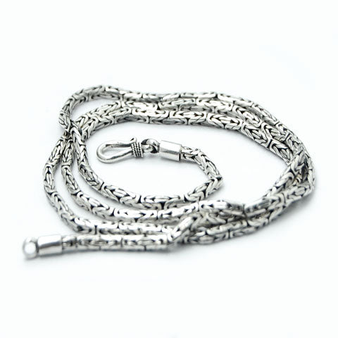 2mm Byzantine .925 Solid Sterling Necklace Chain