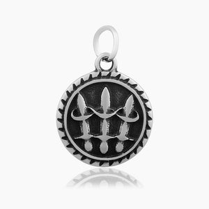 3 Swords Charm Me Stainless Steel Necklace