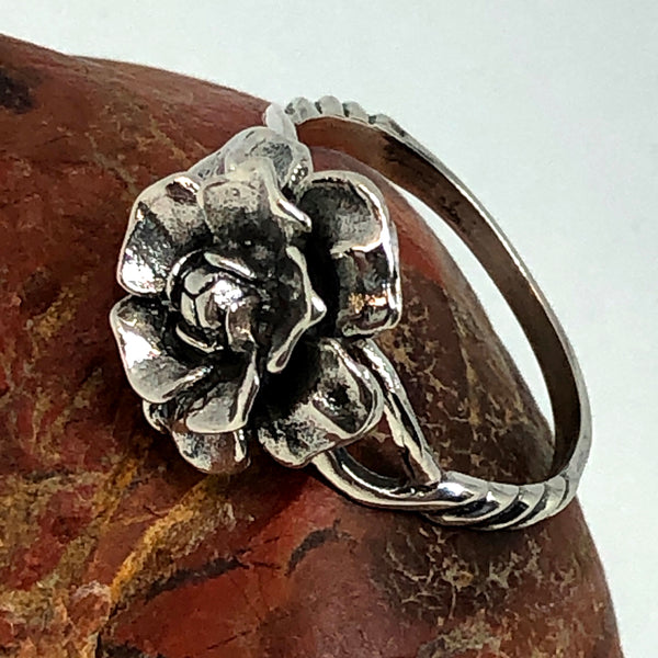 Divine Rose Sterling Silver Ring