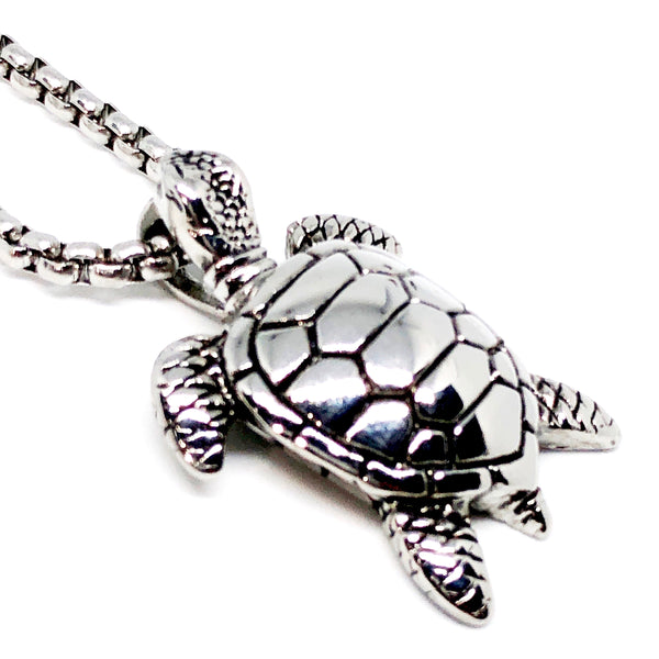 Sea Turtle Stainless Steel Necklace