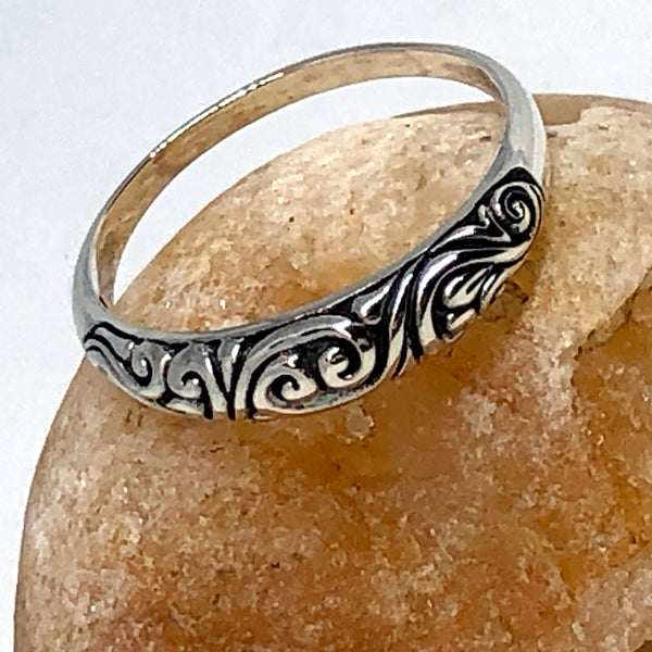 Bali Swirls Sterling Silver Ring