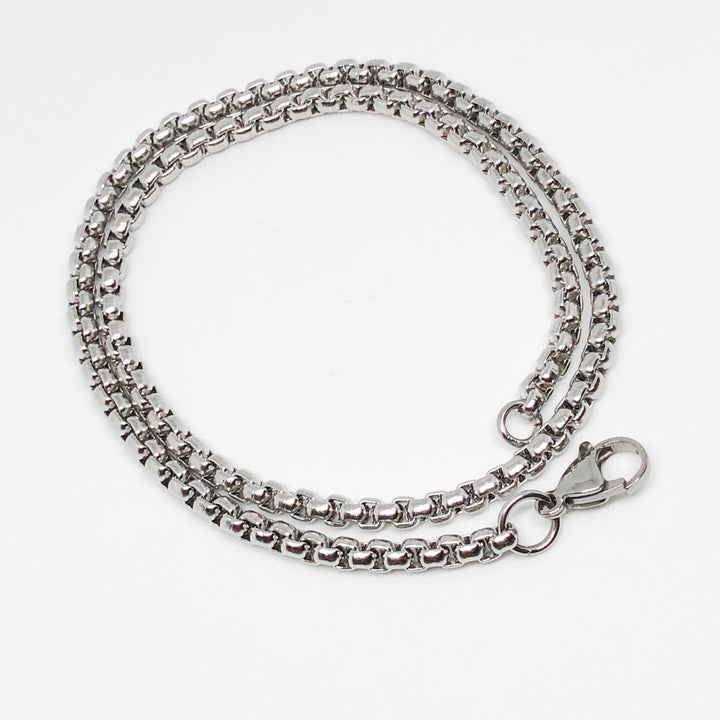 4mm Venetian Box Link Stainless Steel Necklace
