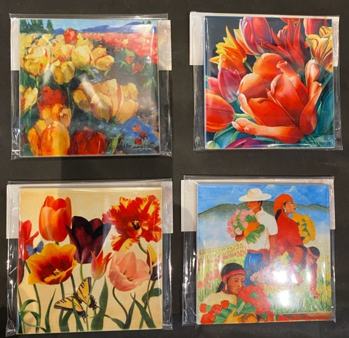 Tile Sets Featuring different poster images (set of 4)