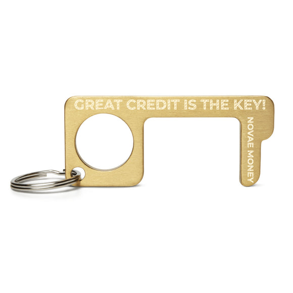 Great Credit Is The Key Engraved Brass Touch Tool