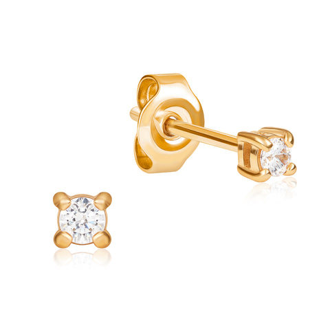 Small Ear Stud in Gold