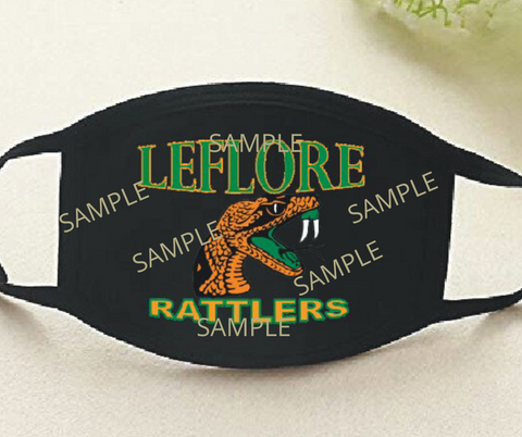 LeFlore High School Face Mask - Shipping is $.0.05 for this item.