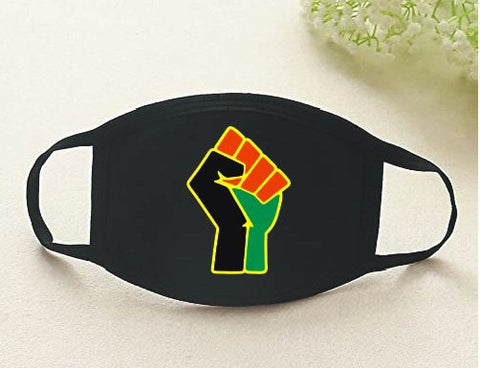 Black Power Fist Face Mask -