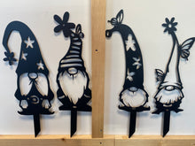 "Load image into Gallery viewer, Set of 4 Gnomes approx. 18-20"" tall including stake(OR INDIVIDUAL)"