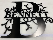 "Load image into Gallery viewer, Family Letter Monogram CLASSIC , 18"" - 36"" 14 ga metal , powder coated"