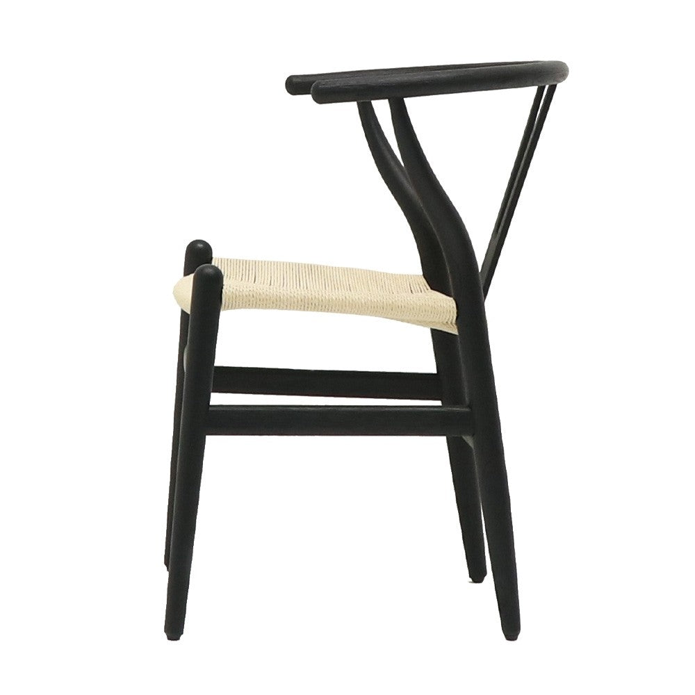Joffre Dining Chair Black - Natural Seat