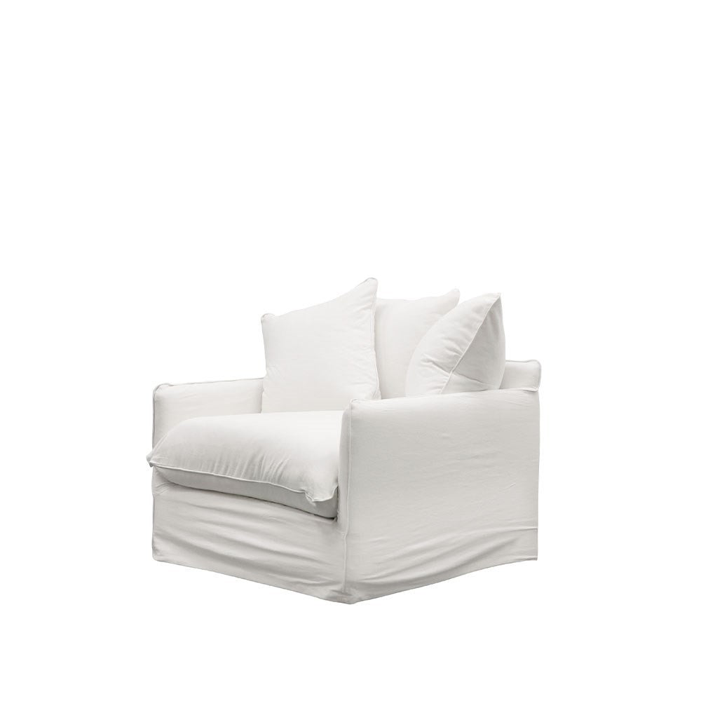 Lotus Slipcover Armchair - White