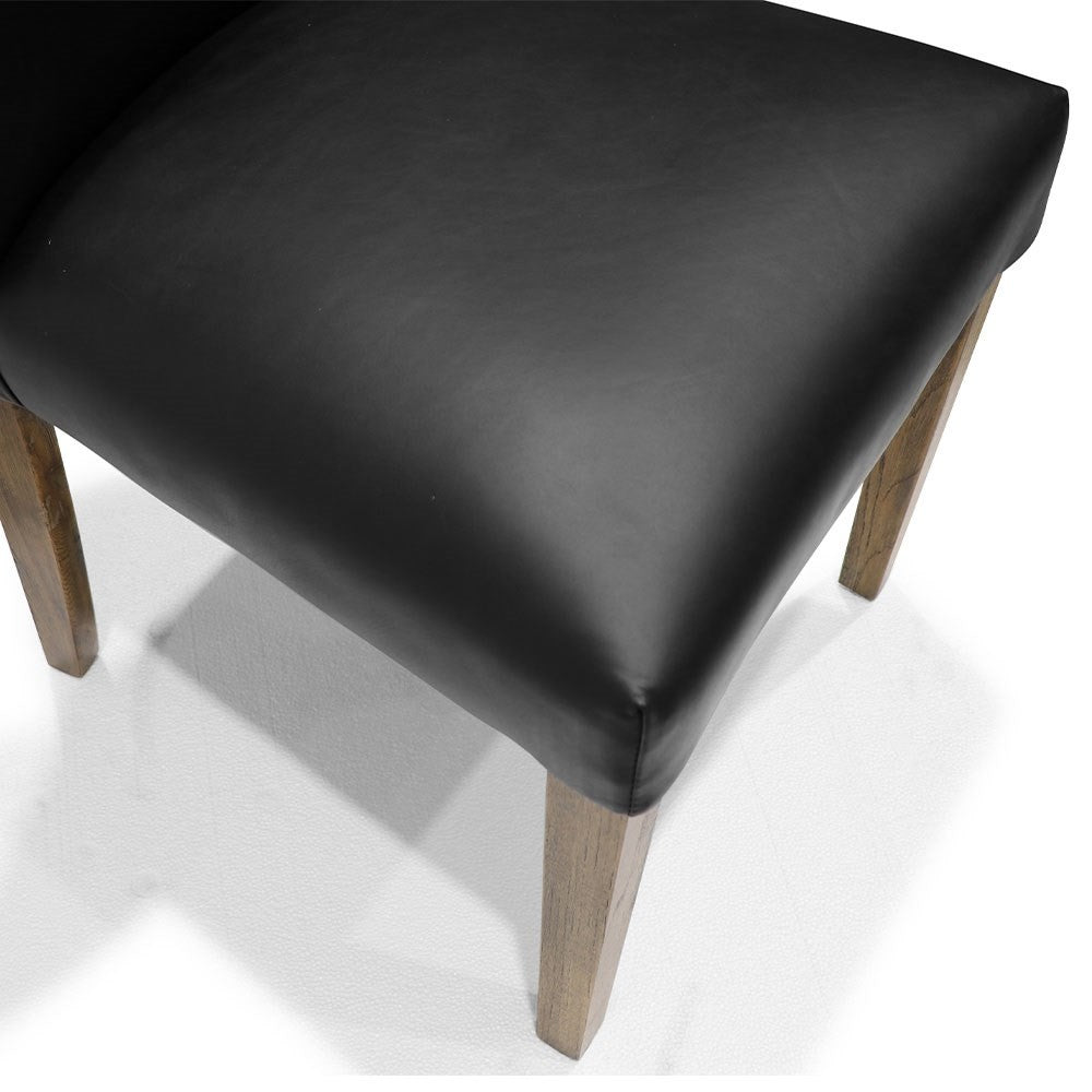Sasa Dining Chair - Black Leather