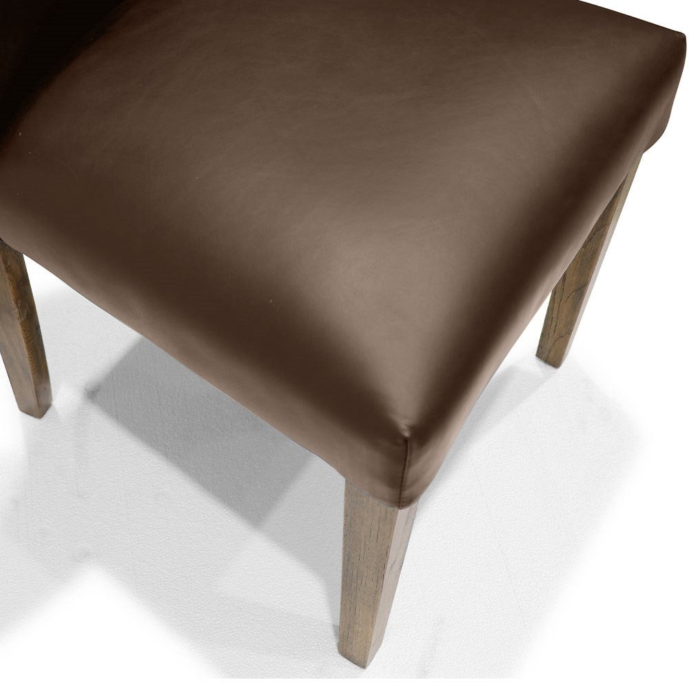 Sasa Dining Chair - Brown Leather