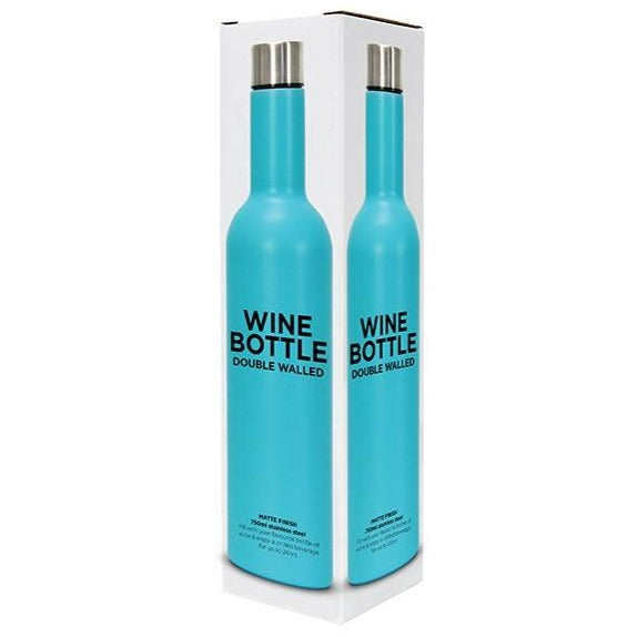 Wine Bottle - Bright Blue