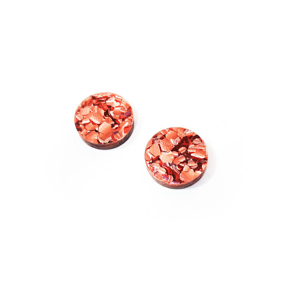 Load image into Gallery viewer, Lover Lover Ally Studs - Copper Glitter