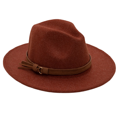 Load image into Gallery viewer, Antler Fedora Hat - Rust