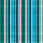 South Beach Stripe - Aqua
