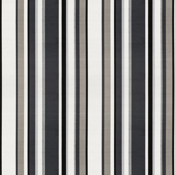 South Beach Stripe - Charcoal