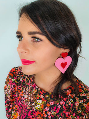 Lover Lover Flossie Earrings - Pink/Red