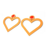 Lover Lover Margo Earrings - Peach/Neon Red
