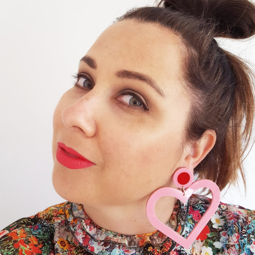 Lover Lover Margo Earrings - Pink/Red