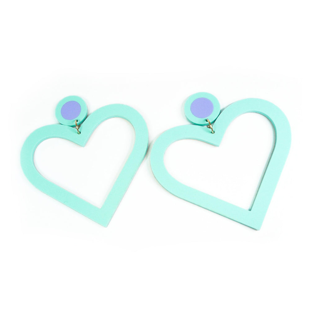 Lover Lover Margo Earrings - Spearmint/Sky Blue