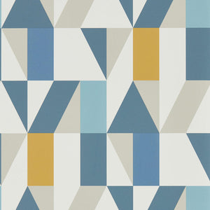 Load image into Gallery viewer, Nuevo Wallpaper - Indigo/Slate/Satsuma