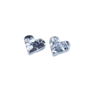 Load image into Gallery viewer, Lover Lover Paige Studs - Silver Glitter