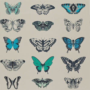 Load image into Gallery viewer, Papilio Wallpaper - Lagoon/Indigo/Emerald