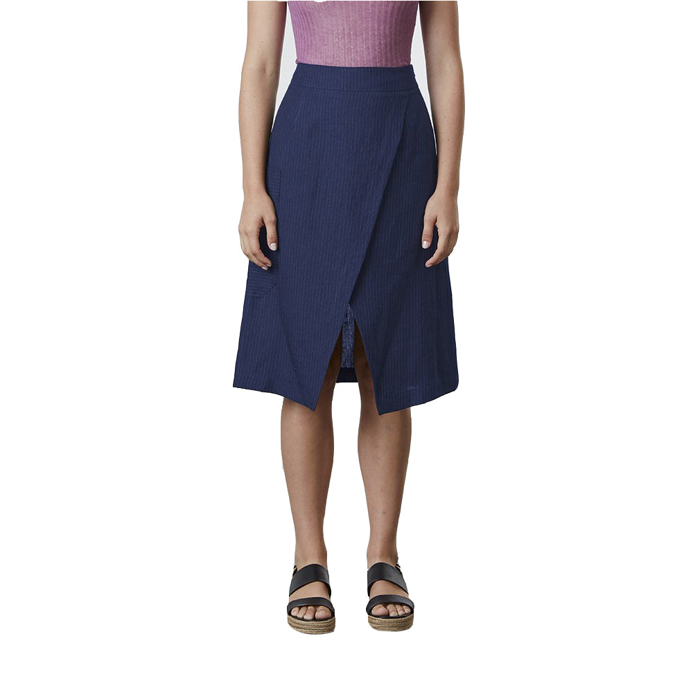 Standard Issue Linen Skirt - Navy