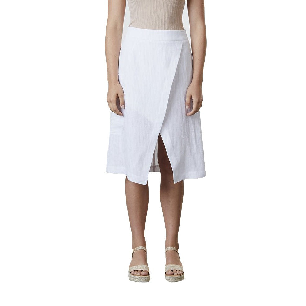 Standard Issue Linen Skirt - White