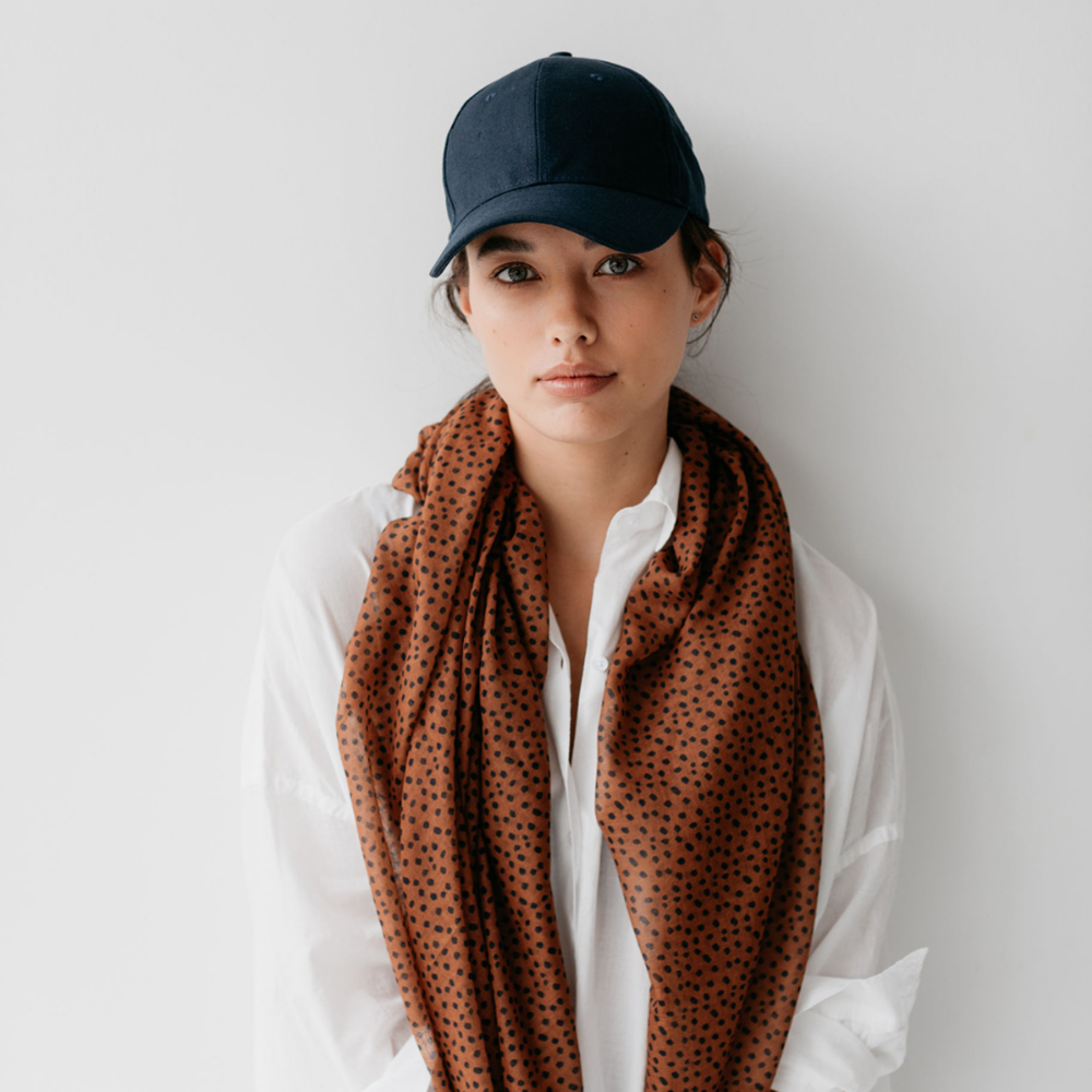 Load image into Gallery viewer, Sophie Freckles Maxi Scarf - Spice