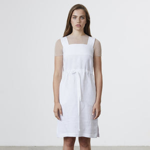 Load image into Gallery viewer, Standard Issue Linen Pinafore - White