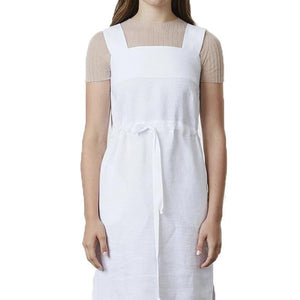 Standard Issue Linen Pinafore - White