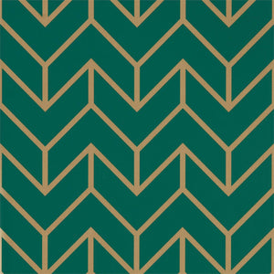 Load image into Gallery viewer, Tessellation Wallpaper - Teal/Gold
