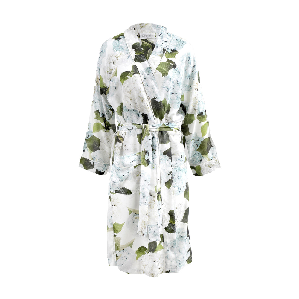 Load image into Gallery viewer, Wallace Cotton Hydrangea Robe