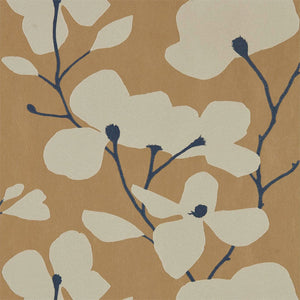 Kienze Shimmer Wallpaper - Antique Gold/Ink