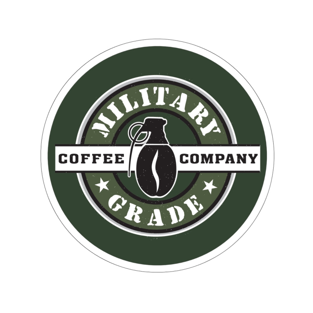Military Grade Coffee Co Green Logo Sticker (4 Sizes)