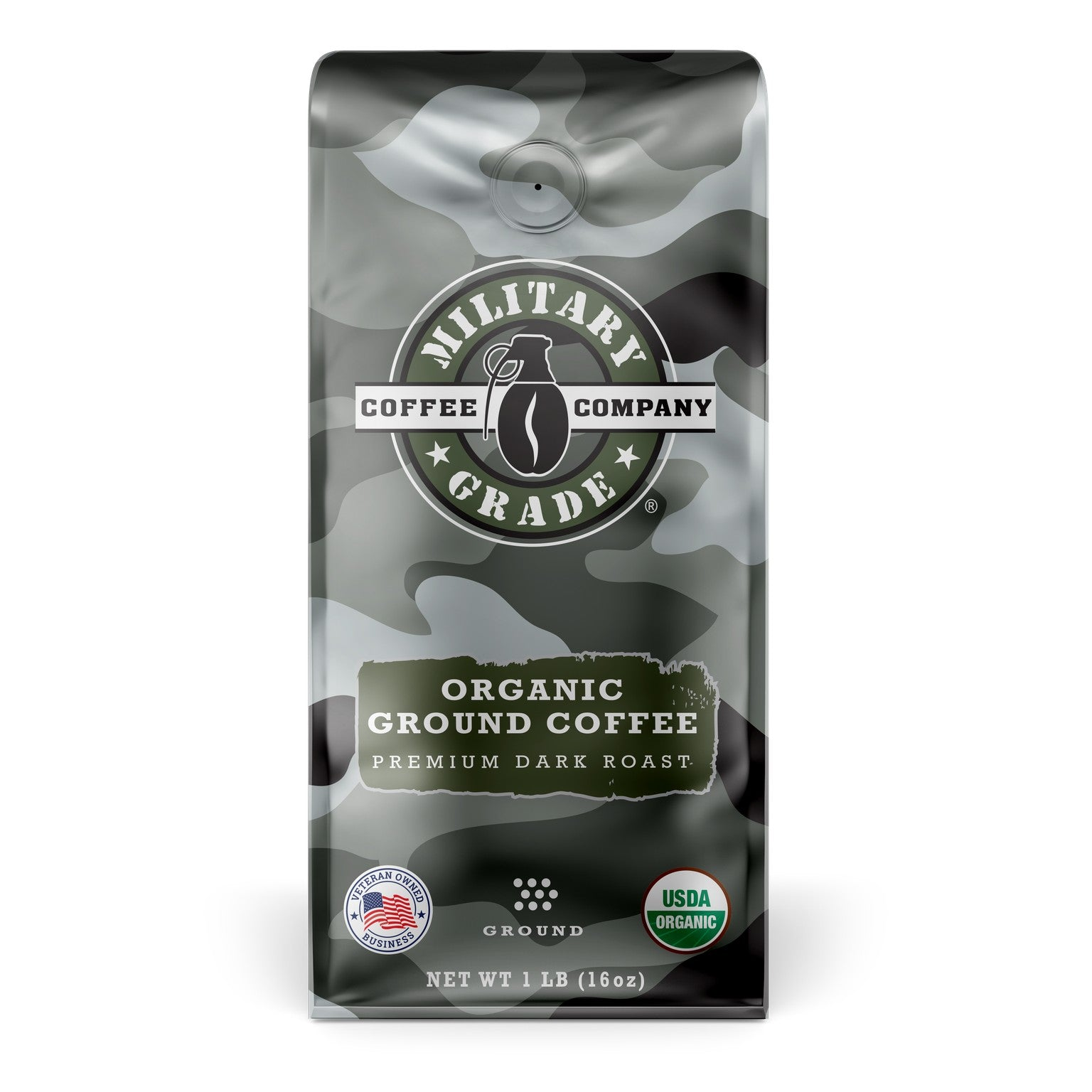 Military Grade Organic Ground Coffee (16 oz.)