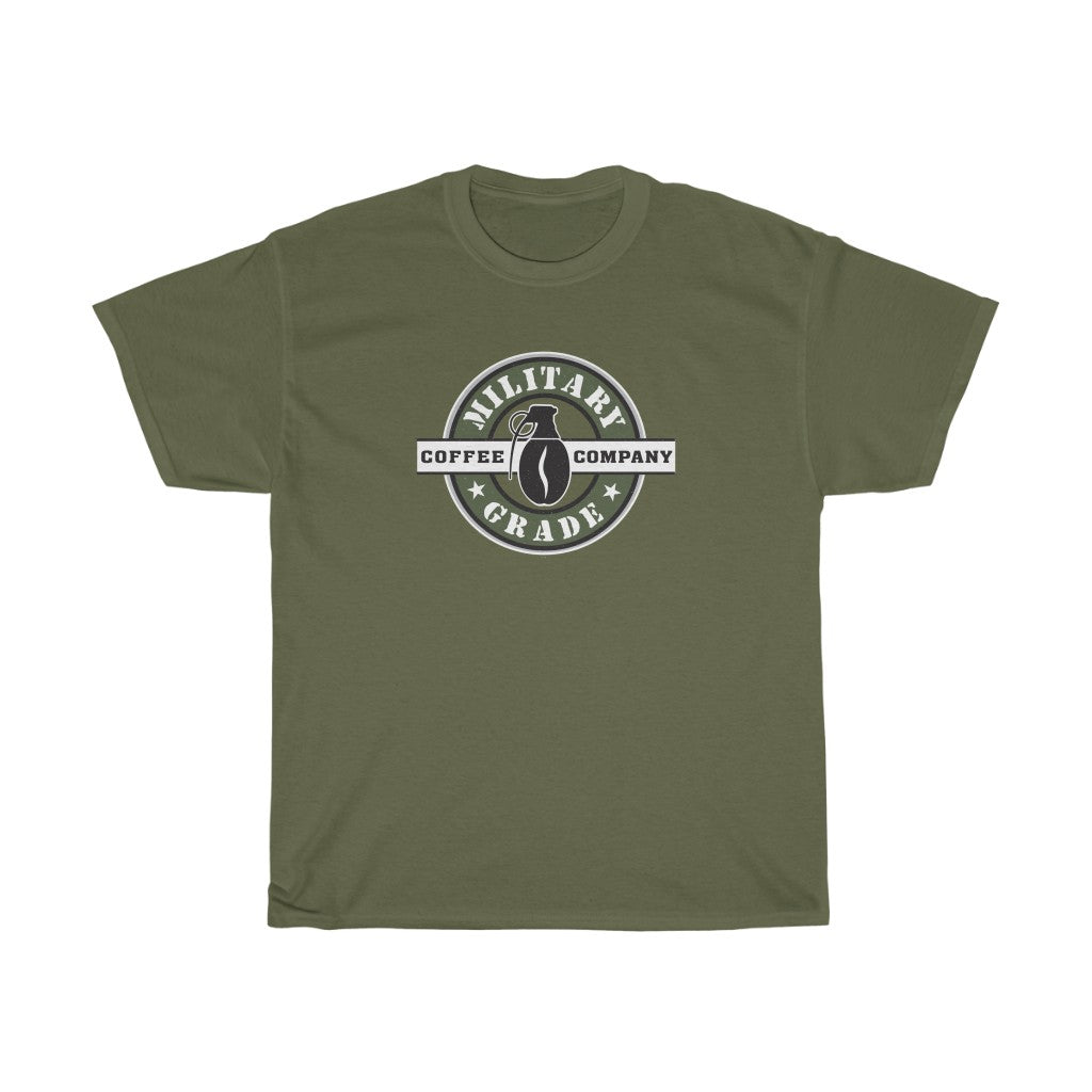 Military Grade Coffee Co Logo Unisex Heavy Cotton Tee