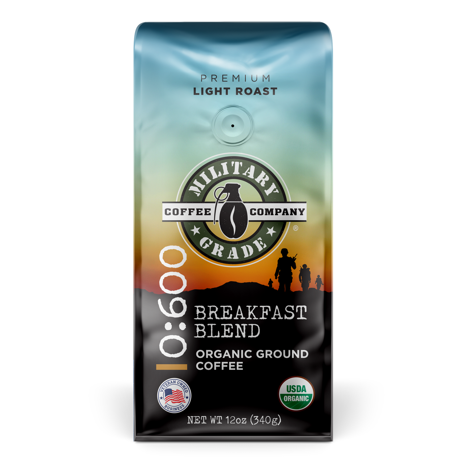 0:600 Breakfast Blend Organic Coffee (12 oz.)