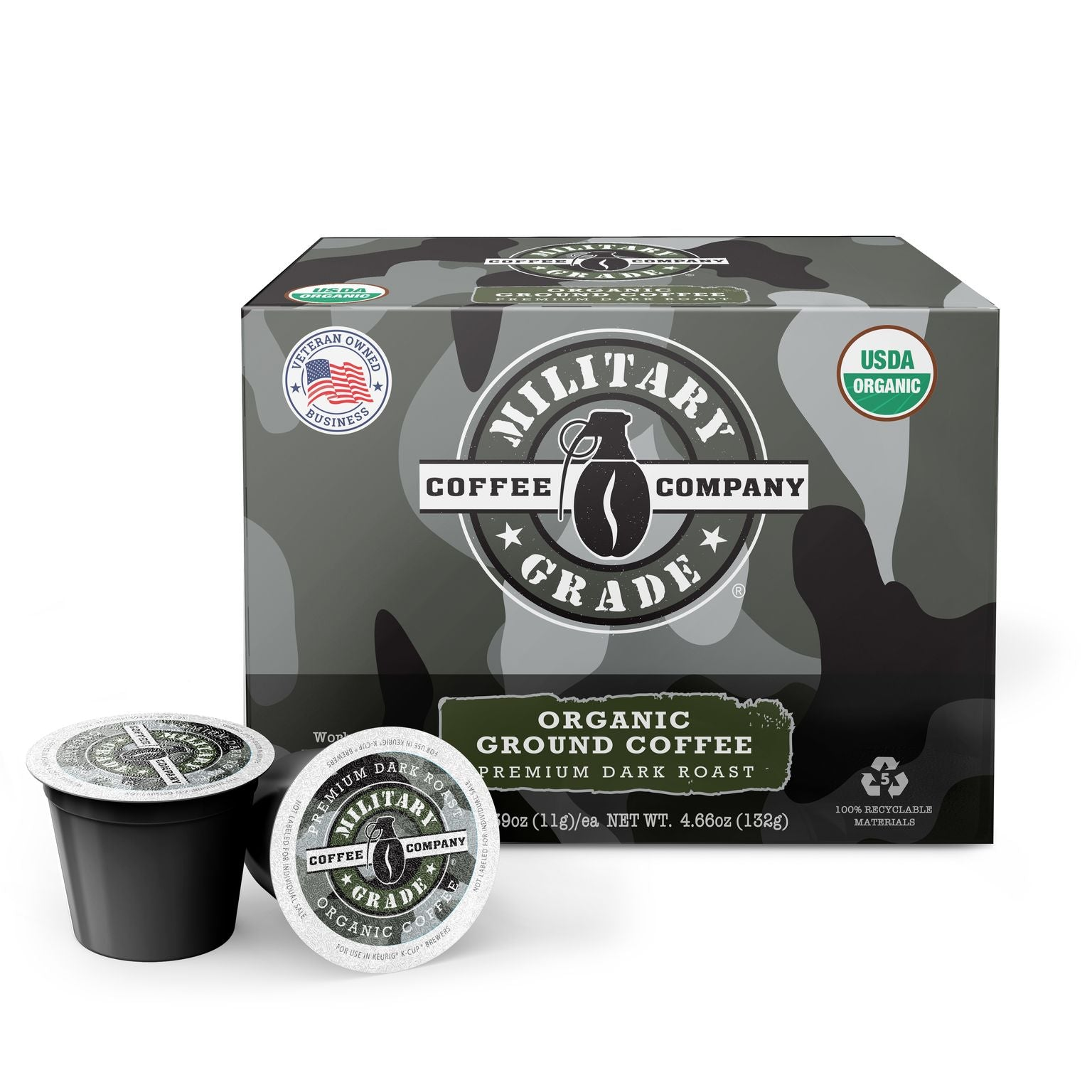 Military Grade Coffee K-Cups (12 ct.)