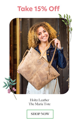 shop holtz leather the maria tote bag
