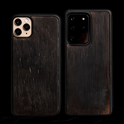 charred tennessee whiskey barrel protective phone case
