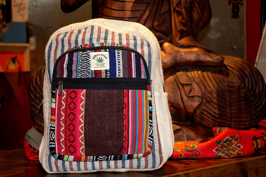Nepali Hemp Backpacks