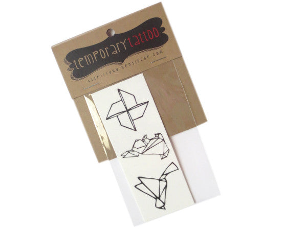 Origami Temporary Tattoo