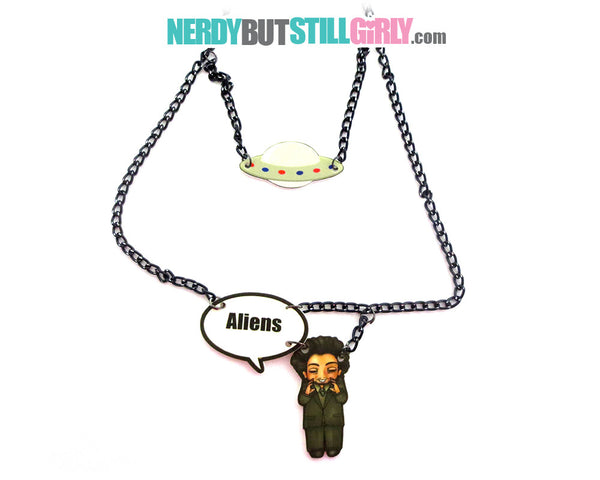 Ancient Alien Theorist Necklace