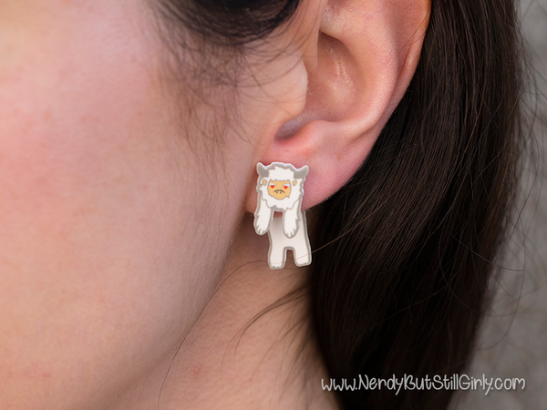 Cryptozoology (Yeti) Cling Earring